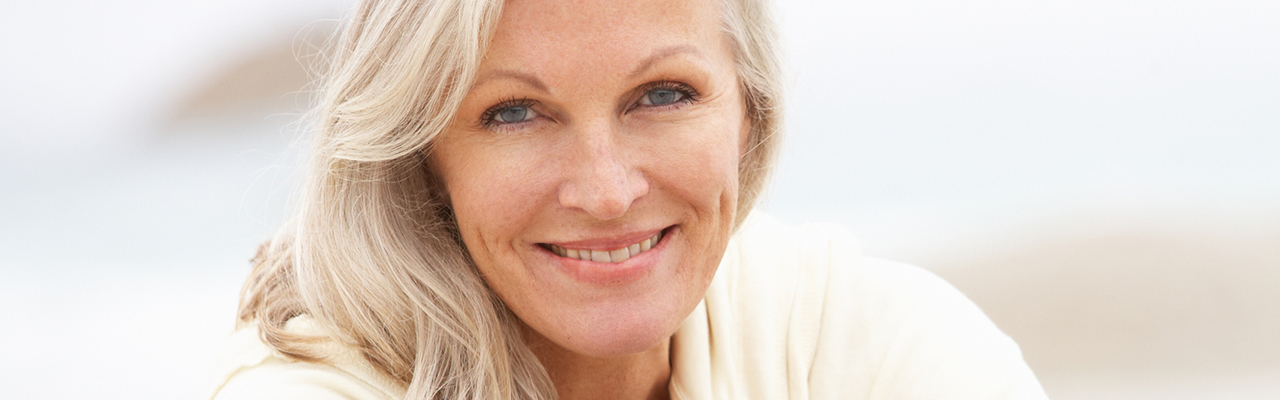middle aged women with sun spots on face